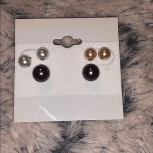 3 for $12 PEARL EARRINGS 3 pack